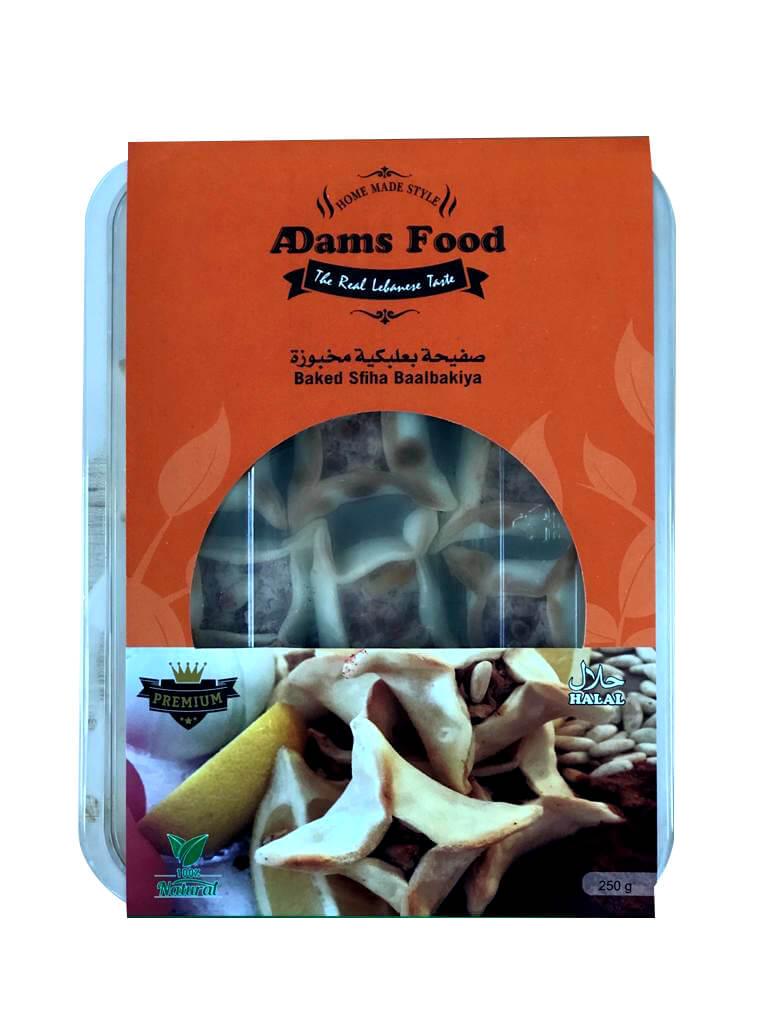 Image for product: adams food baked sfiha baalbakiya